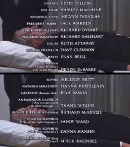 "Some of these credits are pure gold; ""DENNIS WATSON (Gay) (""Yes, very"")"" takes the cake."