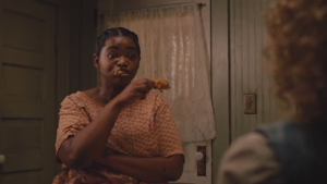 Seriously, this movie is totally racist. It constantly perpetuates stereotypes about black people and fried chicken.
