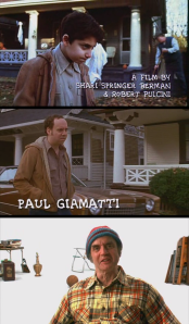 The kid does a spot-on Paul Giamatti and Paul Giamatti does a spot-on Harvey Pekar. Or perhaps, if the kid's even better than I give him credit for, he does a spot-on Paul Giamatti-as-Harvey Pekar.