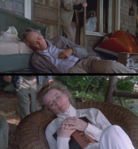 Both Fonda and Hepburn died during filming, and their corpses were used in scenes that still needed to be shot. Pretty disrespectful, I thought.