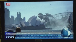 Sure, the giant alien destroys Sydney Harbour, but I live 9 kilometres away, so I'm sure I'll be fine. Right? In fact, anyone who doesn't live on or adjacent to a recognisable landmark in a major world city tends to be fine in most disaster/monster/alien blockbusters.