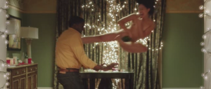 Definitely the only movie I've seen in which a naked Asian woman (her crotch modestly covered by a leaf) is used as a human buffet table, gets bitten by a black guy, and gets revenge with a flying kick.