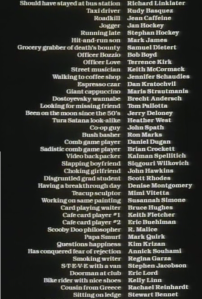 "Surely no other movie has ever featured characters listed in the credits as ""Grocery grabber of death's bounty"", ""Sadistic comb game player"" or ""Scooby Doo philosopher""."