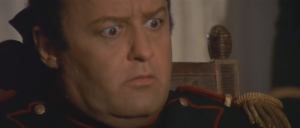 Napoleon's reaction to reading the end of the script and finding out that he loses the titular battle.