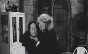 This must have been the first scene filmed, since in every other scene Marty Feldman showed the effects of what happened here (having his neck squeezed until his eyes popped out). On a more serious note: Graves' disease.