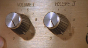 Marty Di Bergi: Why don't you just make ten louder, and make ten be the top number, and make that a little louder? [one of the most brilliant long pauses in comedy history] Nigel Tufnel: These go to eleven.